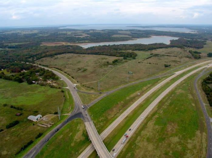 Hwy 84 and 75 land aerial view