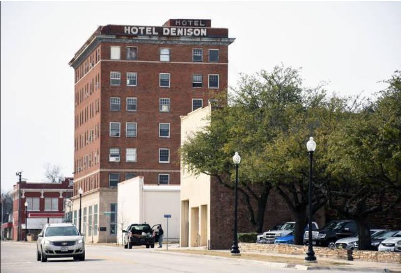Herald Democrat Photo - Hotel Denison Article May 29, 2019 Hotel Denison from the east on Crawford S
