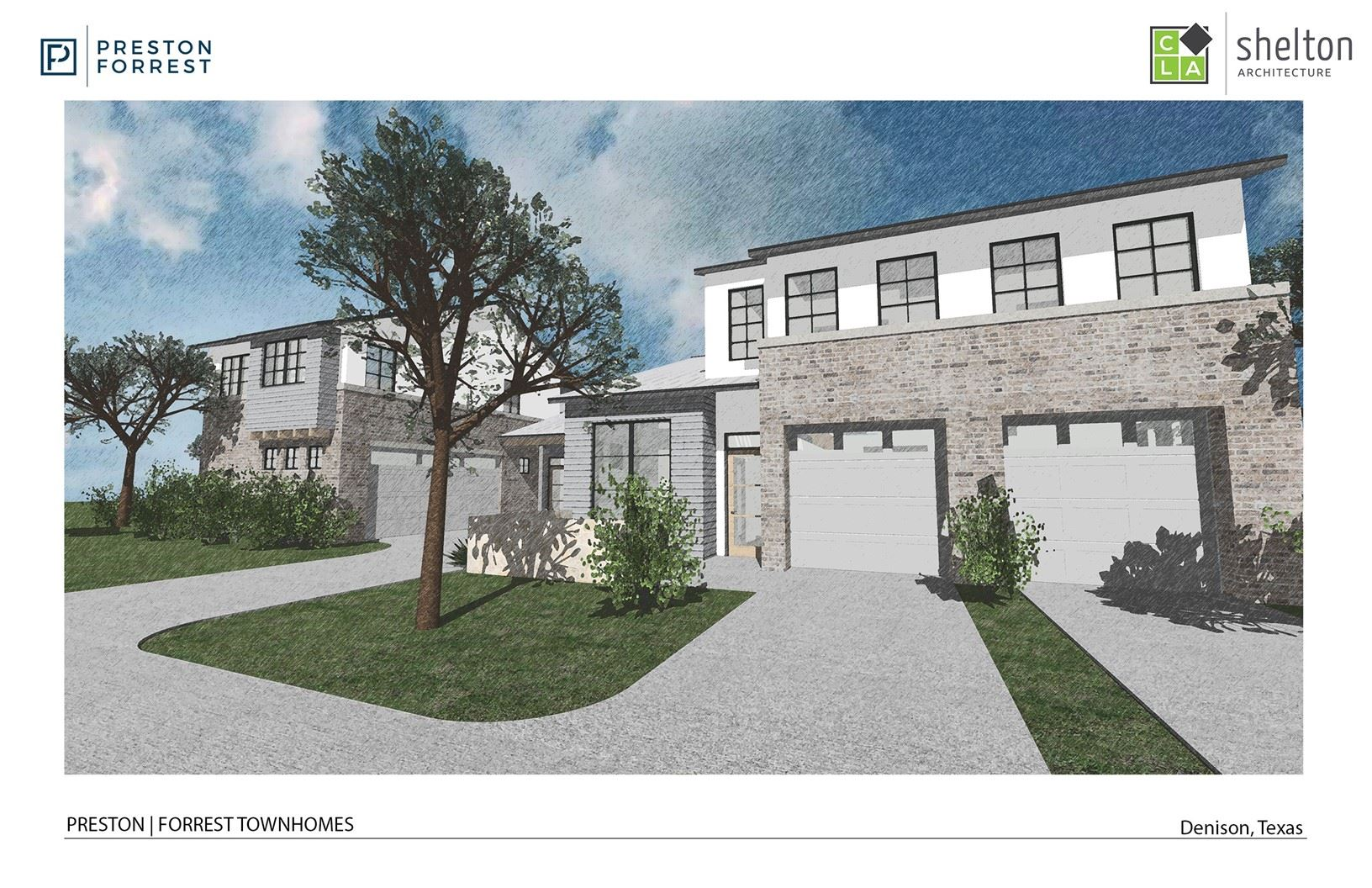 Front view of Westlake Townhome project